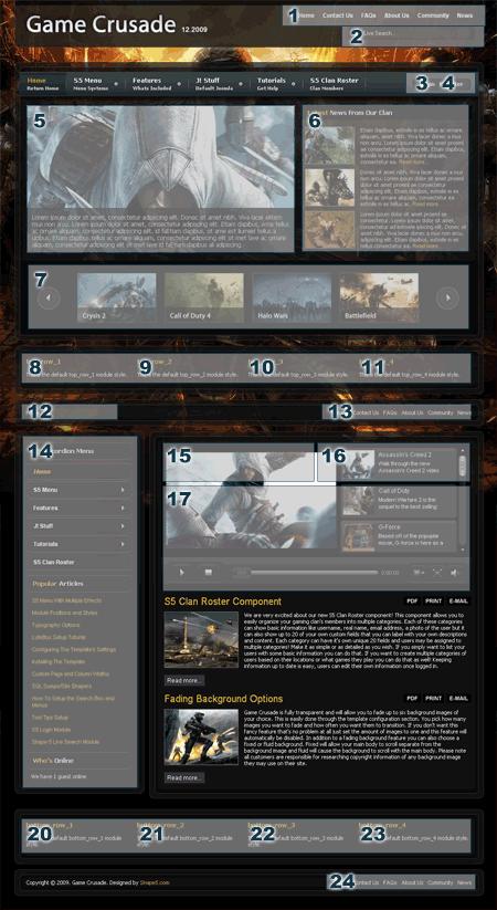 Game Crusade Template