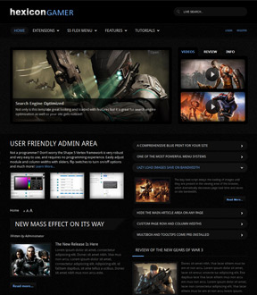 Hexicon Gamer  joomla template