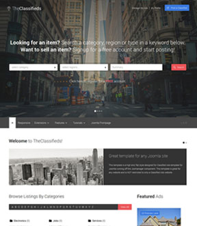 TheClassifieds Joomla Club Template