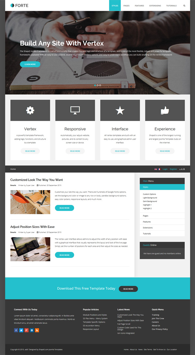 Download Forte Free Joomla Template