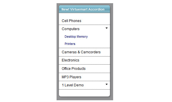 vm accordion menu preview