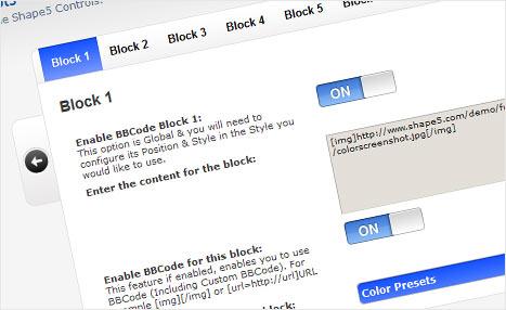 phpbb3 block code