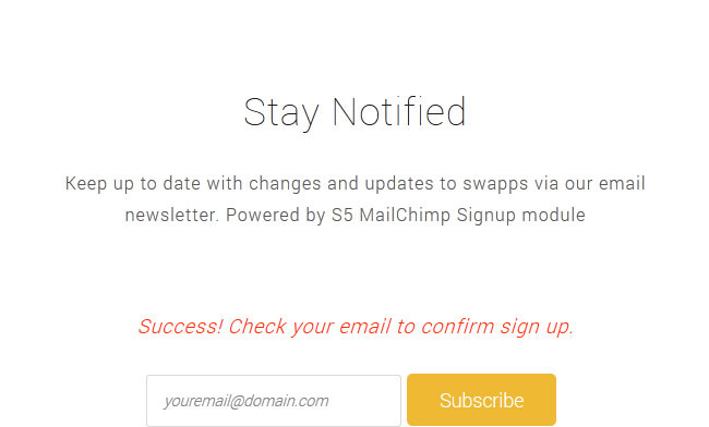 mail chimp preview