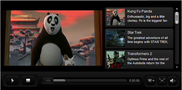 media player preview